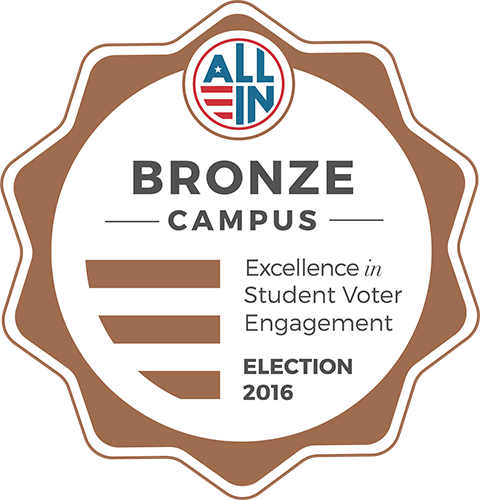 Bronze seal for excellence in student voter engagement