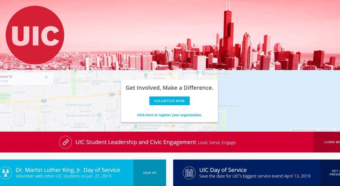 service.uic.edu homepage