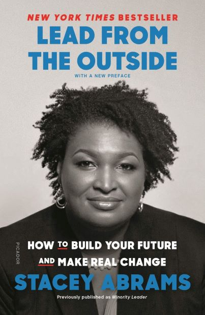 Lead from the Outside book cover, showing Stacey Abrams photo in black and white