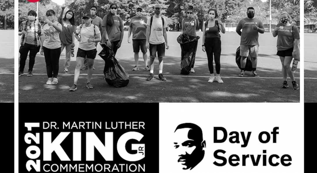 MLK Jr. Day of Service Graphic.