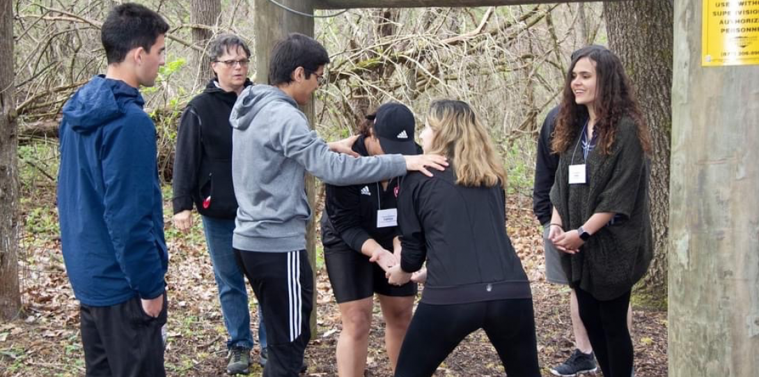 Outdoor team building exercise.
